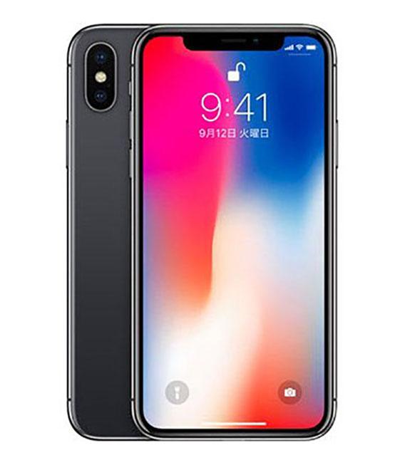 【中古】【安心保証】 au iPhoneX 256GB スペースグレー SIMロック解除済