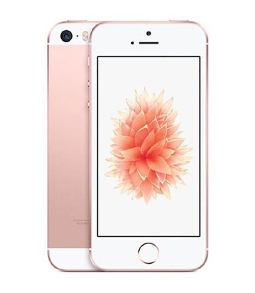 【中古】【安心保証】 au iPhoneSE[128G] ローズゴールド