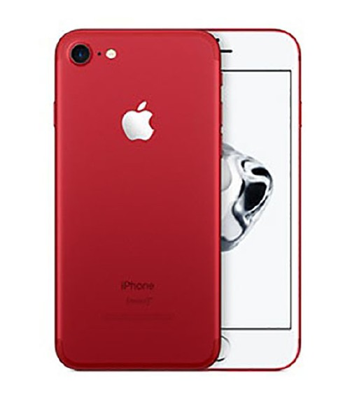 【中古】【安心保証】 au iPhone7[128GB] レッド