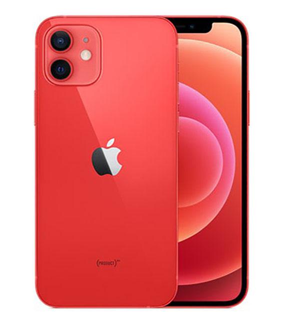 【中古】【安心保証】 au iPhone12[64G] レッド