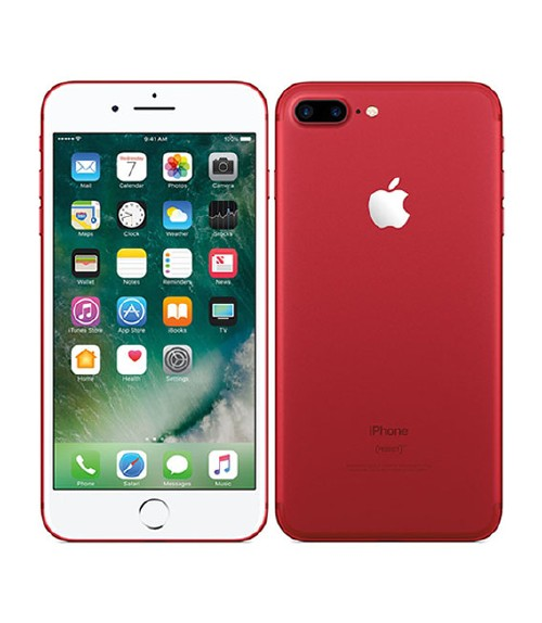 【中古】【安心保証】 au iPhone7Plus[128GB] レッド