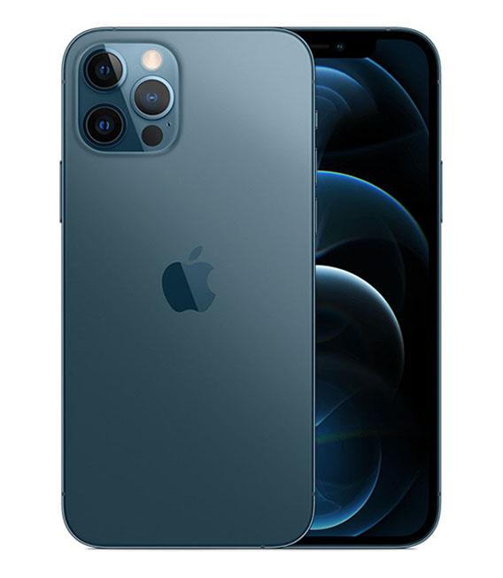 【中古】【安心保証】 iPhone12Pro[128GB] SoftBank MGM83J パシフィックブルー