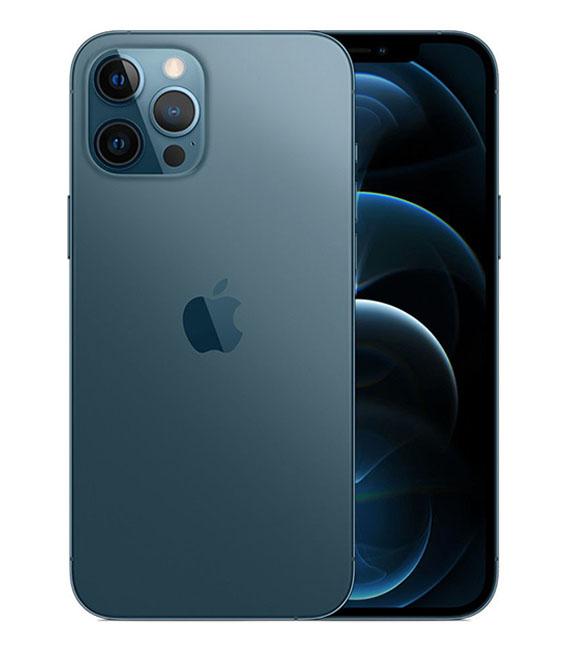 【中古】【安心保証】 SoftBank iPhone12ProMax[256G] ブルー