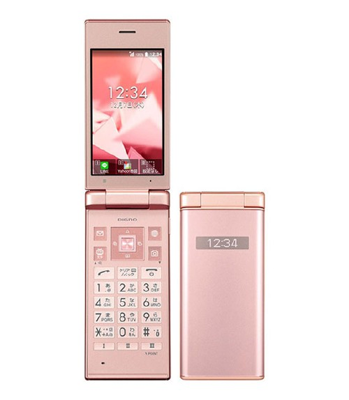 【中古】【安心保証】Y!mobile DIGNO ケータイ 702KC ピンク