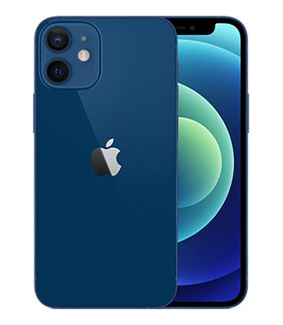 【中古】【安心保証】 iPhone12mini[64GB] SIMフリー ブルー