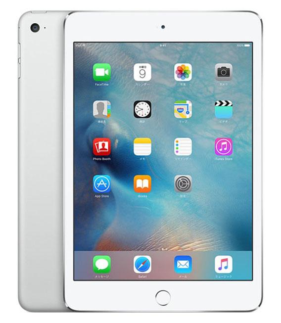【中古】【安心保証】au iPadmini4[セルラー16G] シルバー