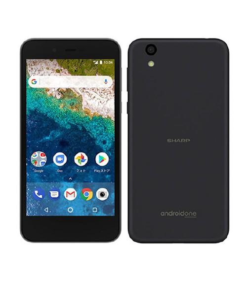 【中古】【安心保証】 Y!mobile AndroidOne_S3 ネイビーブラック