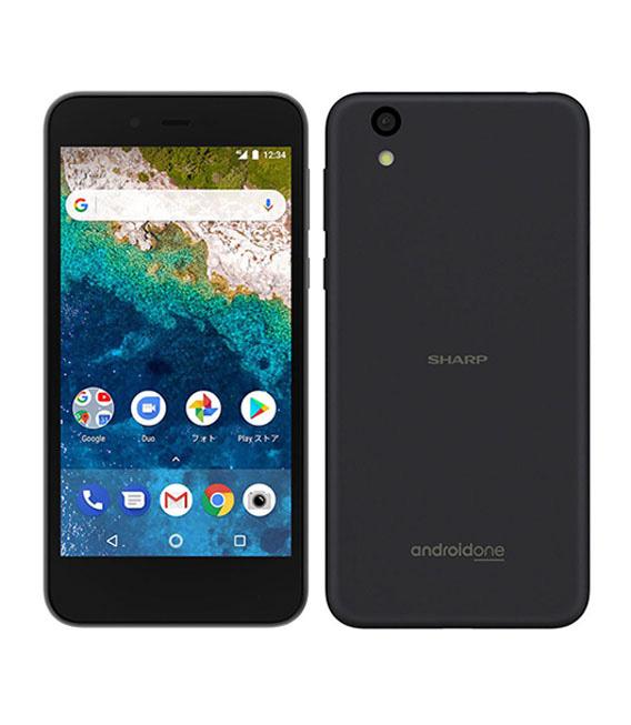 【中古】【安心保証】 Y!mobile Android One S3 ネイビーブラック SIMロック解除済