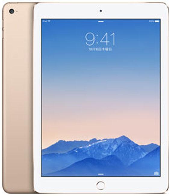 【中古】【安心保証】 au iPadAir_2[4G128GB] ゴールド