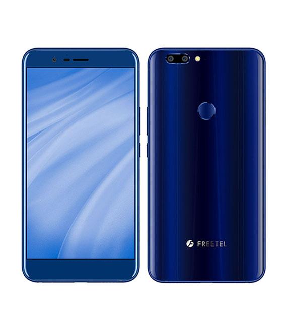 【中古】【安心保証】 SIMフリー FreetelREI 2 Dual ブルー