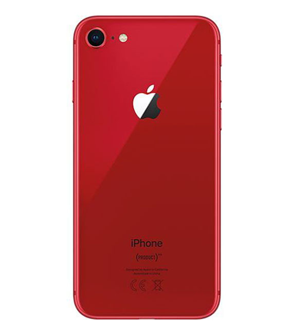 【中古】【安心保証】 au iPhone8[64GB] レッド