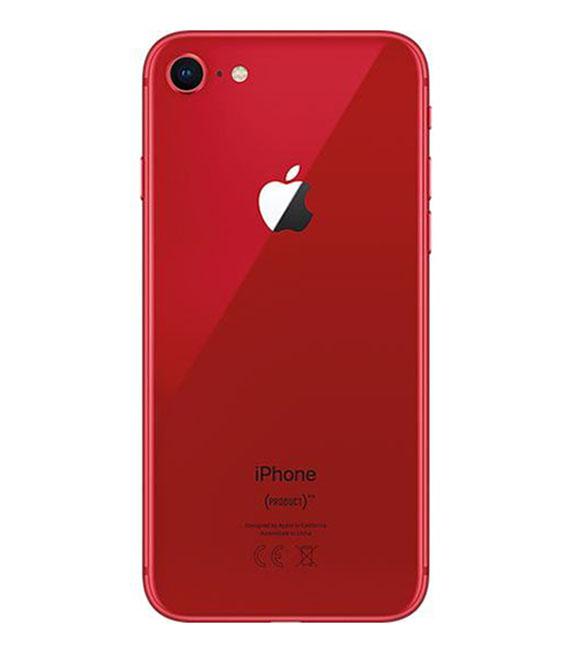 【中古】【安心保証】 au iPhone8[256GB] レッド