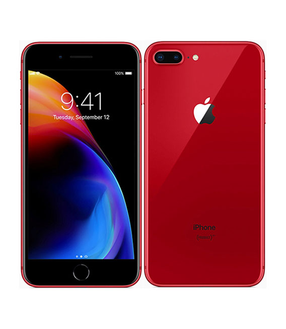 【中古】【安心保証】au iPhone8Plus[256G] レッド