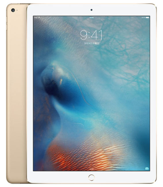 【中古】【安心保証】docomo 12.9iPadPro 1[セルラー128G] ゴールド