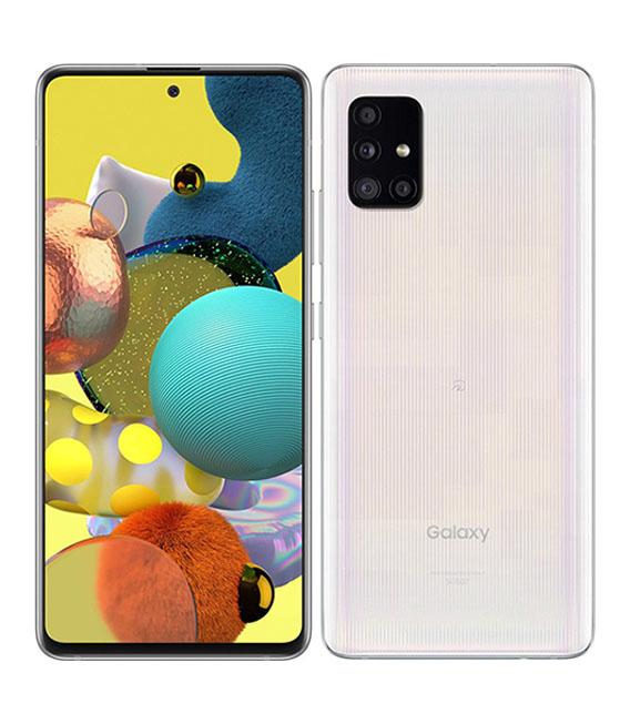 お得 本体 予約販売 白ロム Androidスマートフォン Aランク エーユー 中古 Galaxy 5G プリズムブリックスホワイト au 安心保証 A51