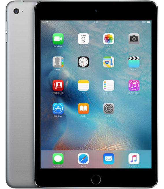 【中古】【安心保証】 docomo iPadmini4[セルラー16G] グレイ