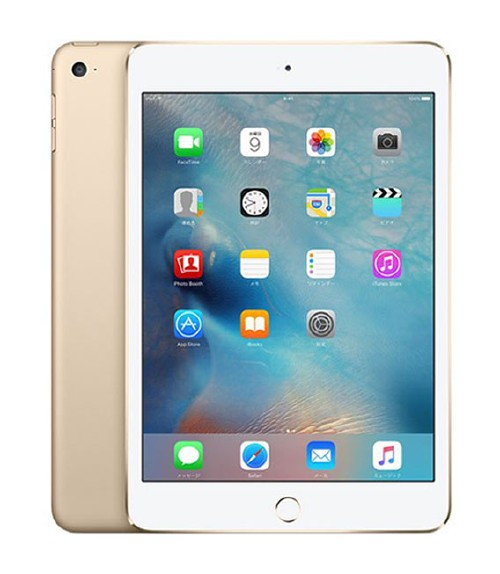 【中古】【安心保証】 docomo iPadmini4[セルラー32G] ゴールド