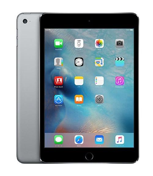 【中古】【安心保証】 docomo iPadmini4[セルラー32G] グレイ