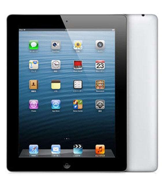 【中古】【安心保証】 au iPadRetina 4[セルラー64G] ブラック