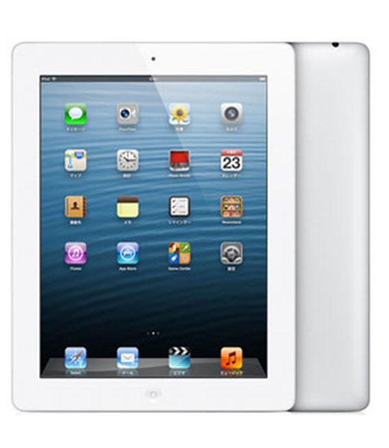 【中古】【安心保証】 au iPadRetina_4[セルラー64GB] ホワイト