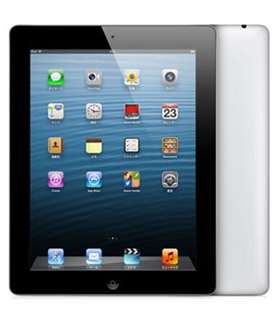 【中古】【安心保証】 au iPadRetina 4[セルラー16G] ブラック