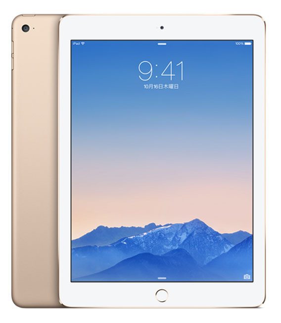 【中古】【安心保証】 iPadAir2_6[WiFi16GB] ゴールド