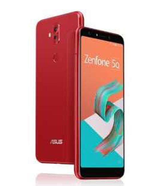 【中古】【安心保証】 SIMフリー ZenFone5 Q[64G] レッド
