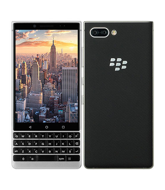 【中古】【安心保証】 SIMフリー BlackBerry KEY2 Silver[64G] シルバー