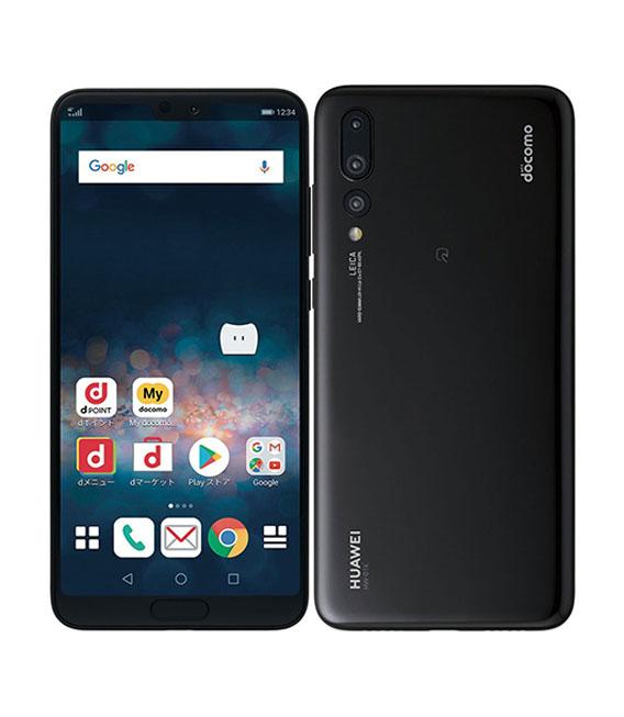 本体 白ロム Androidスマートフォン Aランク 買物 ドコモ P20 docomo 中古 ブラック HW-01K 新作販売 安心保証