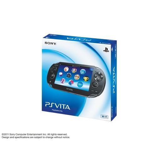 【中古・箱有・説明書無】PlayStation Vita Wi-Fiモデル PCH-1000ZA01 クリスタル・ブラック