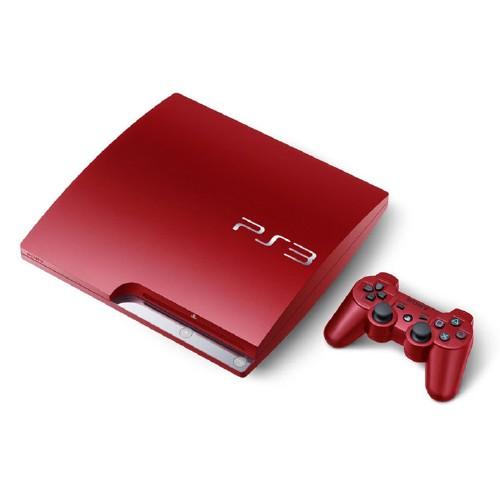 【中古・箱有・説明書無】PlayStation3 HDD 320GB CECH-3000BSR スカーレット・レッド (限定版)