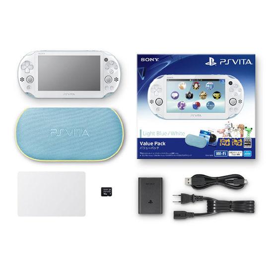 【中古】PlayStation Vita Value Pack PCHJ-10013 ライトブルー/ホワイト (付属品の付属は無し)