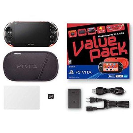 【中古】PlayStation Vita Value Pack Wi-Fiモデル PCHJ-10022 ブルー/ブラック (付属品の付属は無し)
