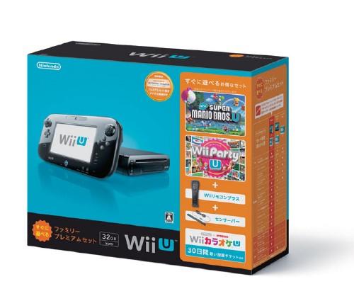【中古・箱無・説明書有】Wii U すぐに遊べるファミリープレミアムセット (クロ) (同梱版)