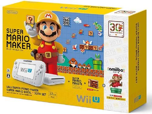 【中古・箱無・説明書有】Wii U スーパーマリオメーカー スーパーマリオ30周年セット (同梱版)
