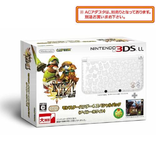 【中古】MONSTER HUNTER 4 スペシャルパック(アイルーホワイト) (同梱版)