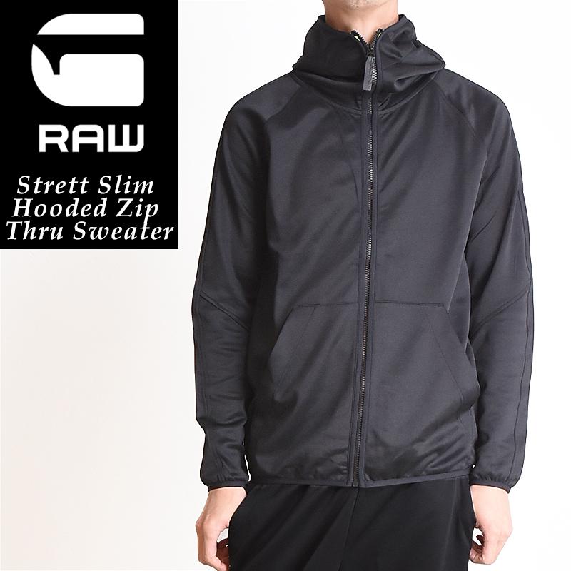 ジースターロウ G-STAR RAW Strett Slim ストレッチ スウェット パーカー メンズ ジップアップ D07243-4534【ss】