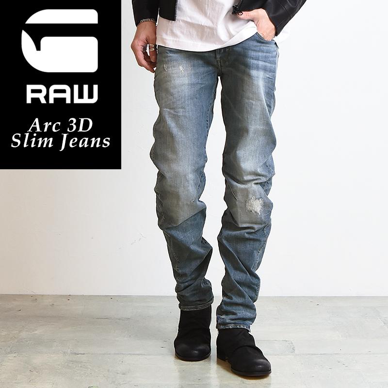 裾上げ無料 G-STAR RAW ジースターロウ Arc 3D スリムジーンズ メンズ デニムパンツ/ジーンズ D10060-8968