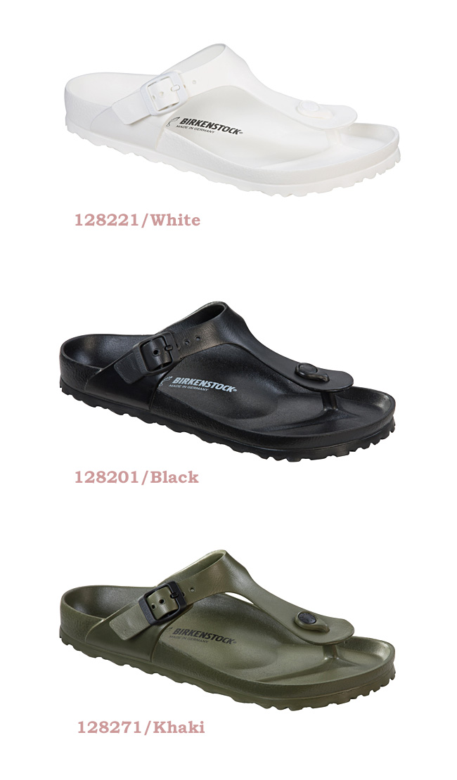 5c51633e5b8c A lot of BIRKENSTOCK (ビルケンシュトック) Lady s GIZEH EVA (ギゼエヴァ) magazines  publication! Tong-shaped popular sandals (white   black   khaki) Lady s ...