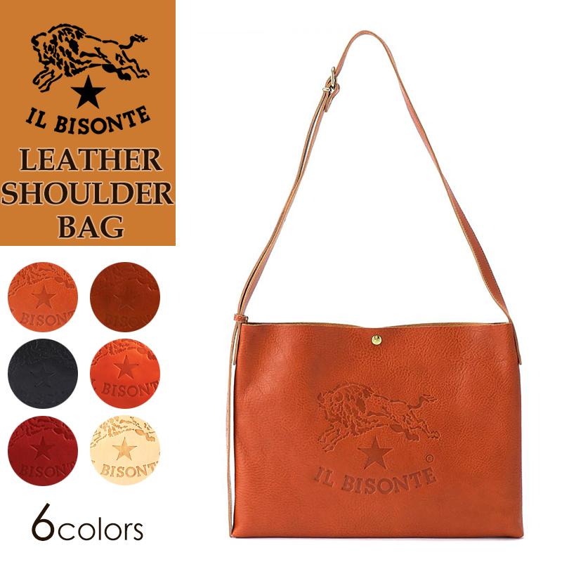イルビゾンテ IL BISONTE BIGロゴ レザーショルダーバッグ ななめがけ かばん 鞄 バッグ 54162305411 メンズ レディース ユニセックス プレゼント 売れ筋 イルビゾンテ認定 正規品