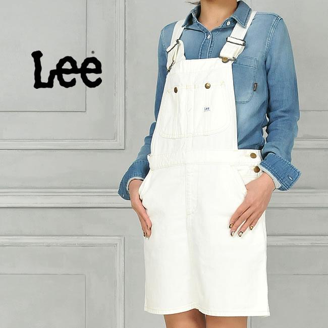 SALEセール10%OFF Lee リー オーバーオールスカート/サロペットスカート(ホワイト) LL1127 レディース【gs2】