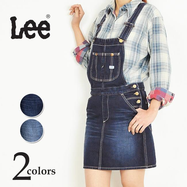 【10%OFF/送料無料】Lee リー サロペットスカート/オーバーオールスカート LL1127-1