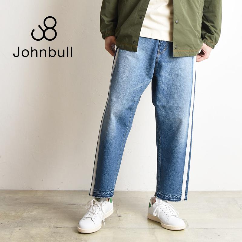SALEセール10%OFF 裾上げ無料 ジョンブル Johnbull メンズ ライン ワイド ジーンズ デニムパンツ 21148【gs2】