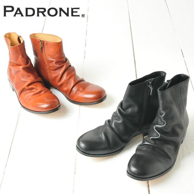 【期間限定!ポイント11倍】パドローネ PADRONE パドロネ シワ加工サイドジップブーツ