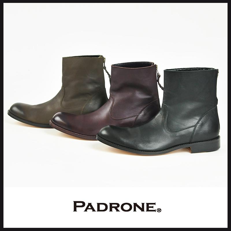 パドローネ PADRONE パドロネ ウォータープルーフ バックジップブーツ EDWARD(エドワード)PU7885-1117
