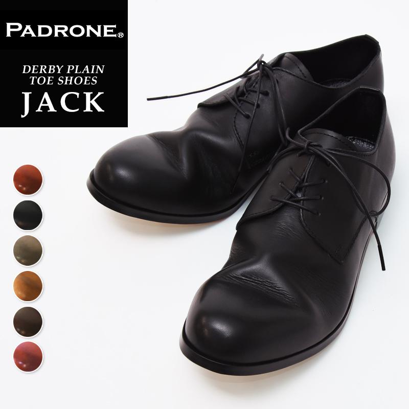 【人気第1位】【期間限定!ポイント11倍】パドローネ PADRONE パドロネ JACK ジャック ダービープレーントゥシューズ メンズ 革靴 短靴 小さいサイズ24から大きいサイズ28.5まで PU7358-2001-11C