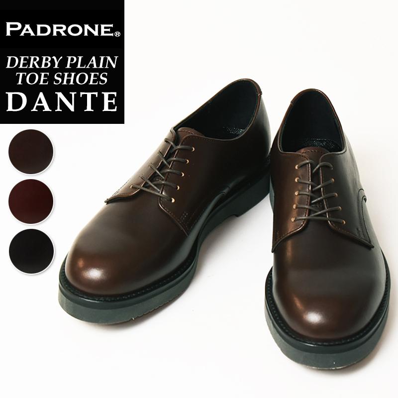 【人気第7位】【期間限定!ポイント10倍】パドローネ PADRONE パドロネ DANTE ダンテ ダービープレーントゥシューズ メンズ 革靴 短靴 PU8759-2001