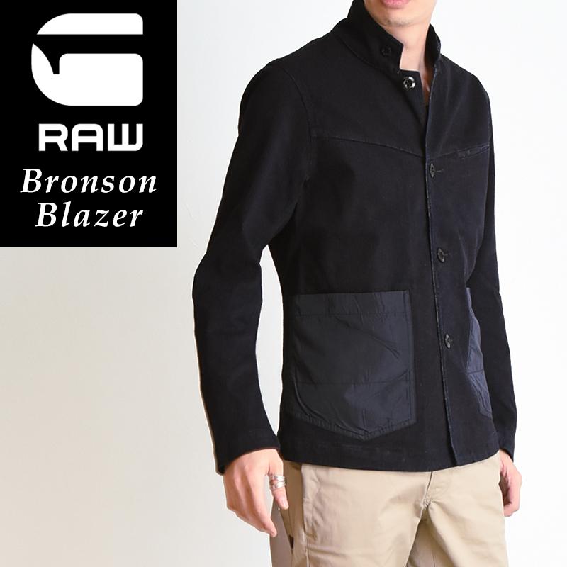 ジースターロウ G-STAR RAW Bronson Blazer ブロンソン ヘリンボーン柄 ブレザー メンズ デニムジャケット D02992-7027