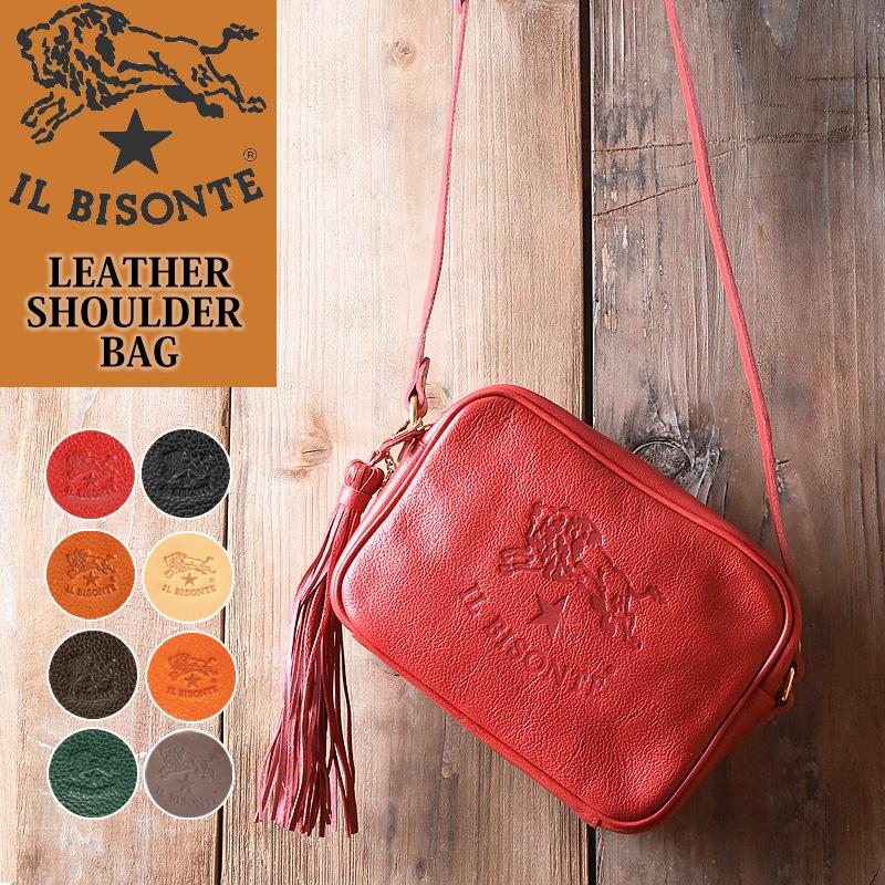 ラッピング無料 イルビゾンテ IL BISONTE レザー ショルダーバッグ ななめがけ レディース 54162305311 鞄 かばん バック