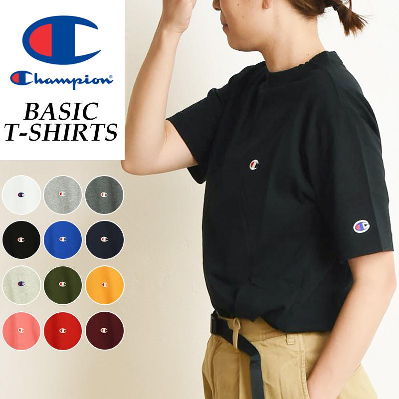 正規取扱店 ゆうパケット対応 ワンポイント Tシャツ スーパーSALE期間限定ポイント2倍 SALEセール20%OFF Champion チャンピオン ベーシックライン クルーネックTシャツ ユニセックス NECK 人気 CREW 安売り LINE gs2 丸首 レディース T-SHIRTS C3-P300L 全国一律送料無料 BASIC